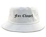 Fox Chapel Pennsylvania PA Old English Mens Bucket Hat White