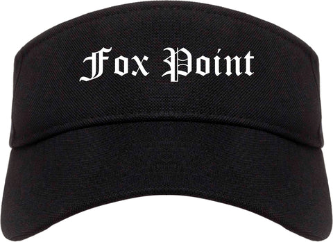 Fox Point Wisconsin WI Old English Mens Visor Cap Hat Black