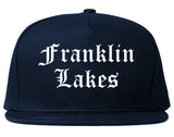 Franklin Lakes New Jersey NJ Old English Mens Snapback Hat Navy Blue