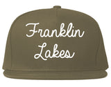 Franklin Lakes New Jersey NJ Script Mens Snapback Hat Grey