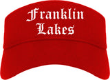 Franklin Lakes New Jersey NJ Old English Mens Visor Cap Hat Red