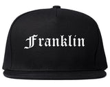 Franklin Massachusetts MA Old English Mens Snapback Hat Black