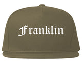 Franklin Massachusetts MA Old English Mens Snapback Hat Grey