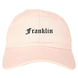 Franklin New Hampshire NH Old English Mens Dad Hat Baseball Cap Pink