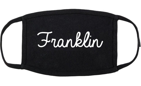 Franklin Wisconsin WI Script Cotton Face Mask Black