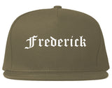 Frederick Maryland MD Old English Mens Snapback Hat Grey