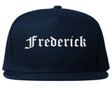 Frederick Maryland MD Old English Mens Snapback Hat Navy Blue