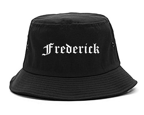 Frederick Maryland MD Old English Mens Bucket Hat Black