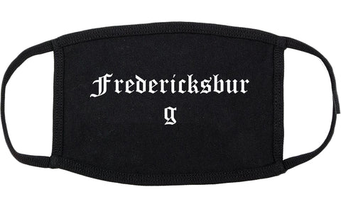 Fredericksburg Texas TX Old English Cotton Face Mask Black