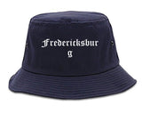 Fredericksburg Texas TX Old English Mens Bucket Hat Navy Blue
