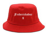Fredericksburg Texas TX Old English Mens Bucket Hat Red