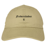 Fredericksburg Texas TX Old English Mens Dad Hat Baseball Cap Tan
