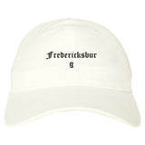 Fredericksburg Texas TX Old English Mens Dad Hat Baseball Cap White
