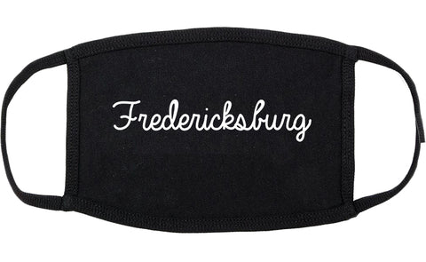 Fredericksburg Texas TX Script Cotton Face Mask Black