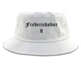 Fredericksburg Texas TX Old English Mens Bucket Hat White