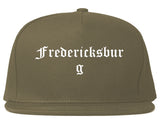 Fredericksburg Virginia VA Old English Mens Snapback Hat Grey