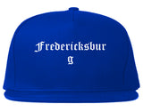 Fredericksburg Virginia VA Old English Mens Snapback Hat Royal Blue