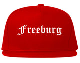 Freeburg Illinois IL Old English Mens Snapback Hat Red