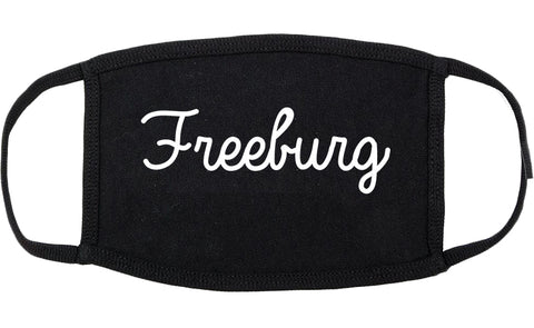 Freeburg Illinois IL Script Cotton Face Mask Black