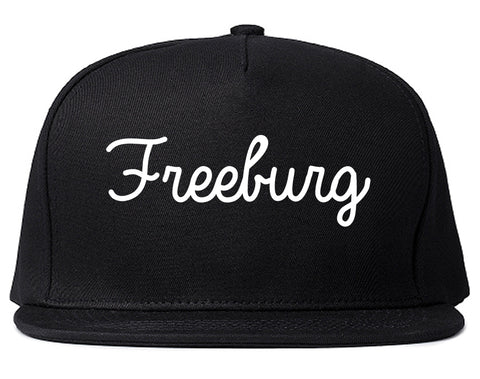 Freeburg Illinois IL Script Mens Snapback Hat Black