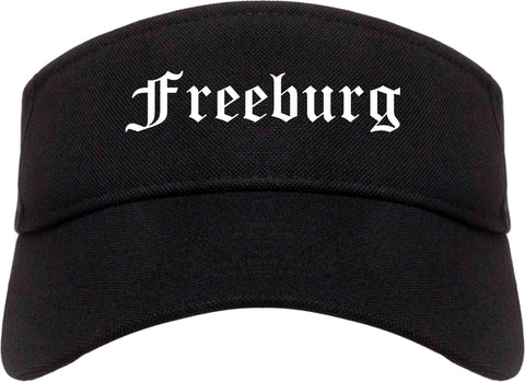 Freeburg Illinois IL Old English Mens Visor Cap Hat Black