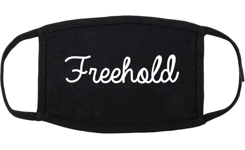 Freehold New Jersey NJ Script Cotton Face Mask Black