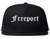 Freeport Illinois IL Old English Mens Snapback Hat Black