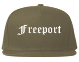 Freeport Illinois IL Old English Mens Snapback Hat Grey
