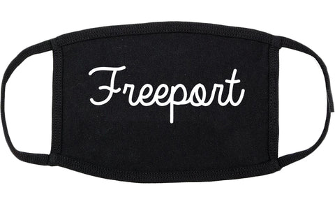 Freeport Illinois IL Script Cotton Face Mask Black