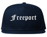 Freeport Texas TX Old English Mens Snapback Hat Navy Blue