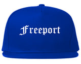 Freeport Texas TX Old English Mens Snapback Hat Royal Blue