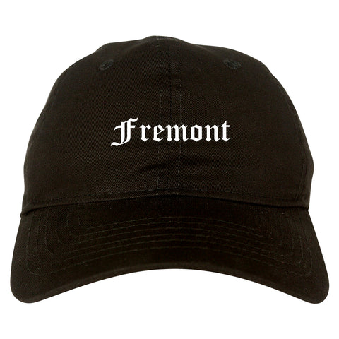 Fremont Nebraska NE Old English Mens Dad Hat Baseball Cap Black