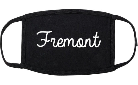 Fremont Ohio OH Script Cotton Face Mask Black