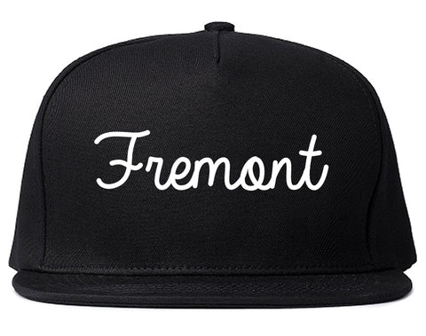 Fremont Ohio OH Script Mens Snapback Hat Black