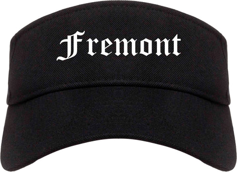 Fremont Ohio OH Old English Mens Visor Cap Hat Black
