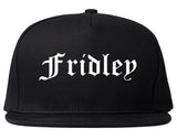 Fridley Minnesota MN Old English Mens Snapback Hat Black