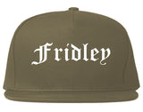 Fridley Minnesota MN Old English Mens Snapback Hat Grey
