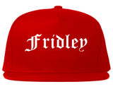 Fridley Minnesota MN Old English Mens Snapback Hat Red