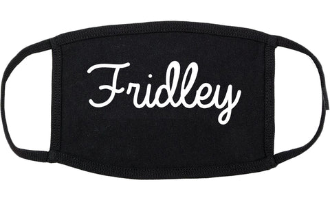 Fridley Minnesota MN Script Cotton Face Mask Black