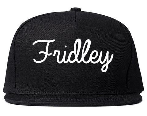 Fridley Minnesota MN Script Mens Snapback Hat Black