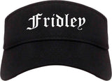 Fridley Minnesota MN Old English Mens Visor Cap Hat Black