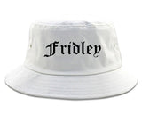 Fridley Minnesota MN Old English Mens Bucket Hat White