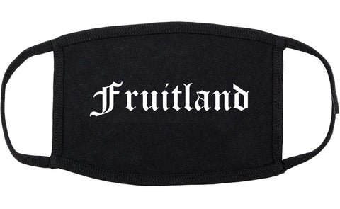 Fruitland Maryland MD Old English Cotton Face Mask Black