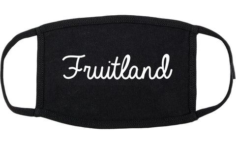 Fruitland Maryland MD Script Cotton Face Mask Black