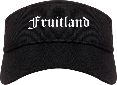 Fruitland Maryland MD Old English Mens Visor Cap Hat Black