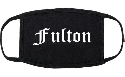 Fulton Missouri MO Old English Cotton Face Mask Black