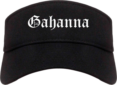 Gahanna Ohio OH Old English Mens Visor Cap Hat Black