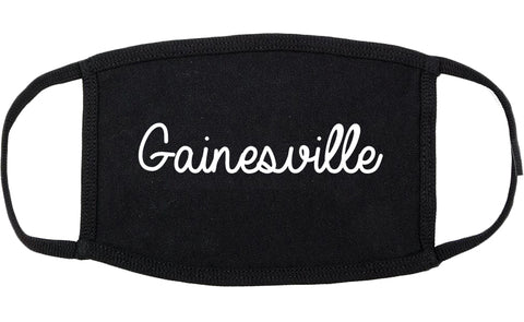 Gainesville Georgia GA Script Cotton Face Mask Black