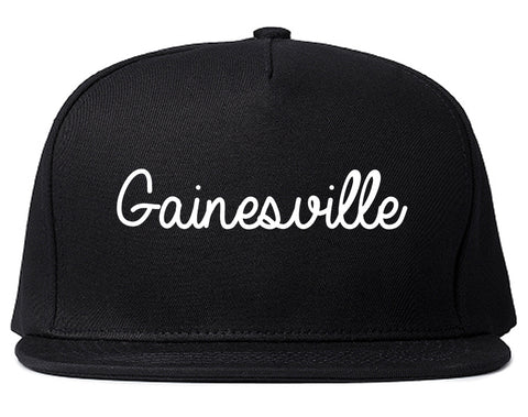 Gainesville Georgia GA Script Mens Snapback Hat Black