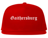 Gaithersburg Maryland MD Old English Mens Snapback Hat Red